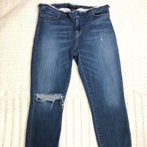 J Brand Skinny Jeans womens Size 29 stigma frayed